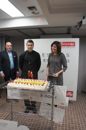 Cristián Ramírez, ganador del X Concurso de Maestro del Espresso Junior que organiza IllyCaffè.